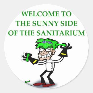 sanatorio pegatina redonda