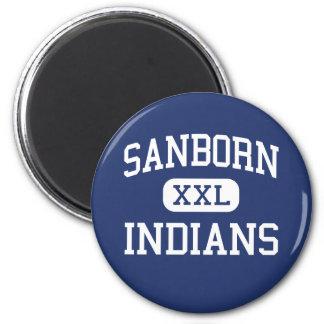 Sanborn Indians Middle Newton New Hampshire Fridge Magnet