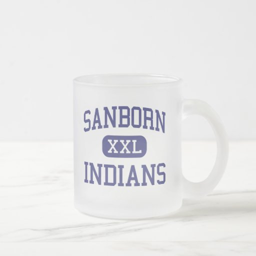 Sanborn Indians Middle Newton New Hampshire 10 Oz Frosted Glass Coffee Mug