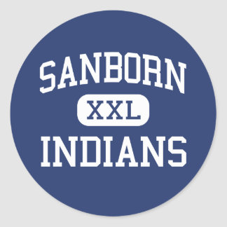 Sanborn Indians Middle Newton New Hampshire Round Stickers