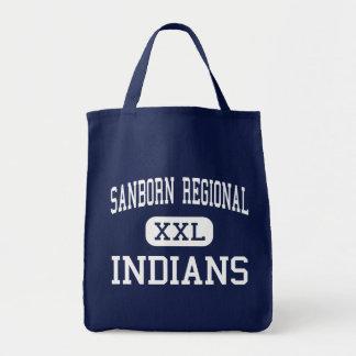 Sanborn Regional - Indians - High - Kingston Tote Bags