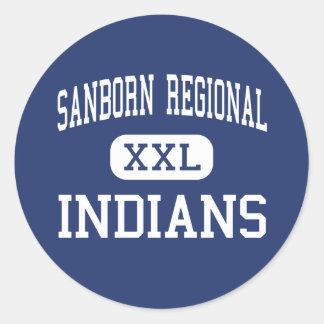Sanborn Regional - Indians - High - Kingston Round Stickers