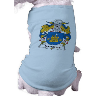 Sanches Family Crest Dog Clothes