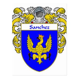 Sanchez Coat of Arms (Mantled) Postcard