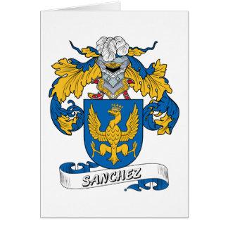 Sanchez Family Crest Card