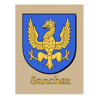 Sanchez Family Heraldic Shield Postcard