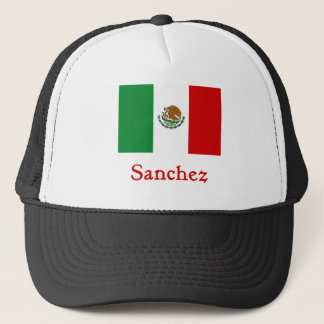 Sanchez Mexican Flag Trucker Hat