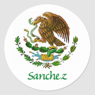 Sanchez Mexican National Seal Classic Round Sticker