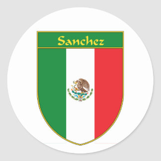 Sanchez Mexico Flag Shield Sticker
