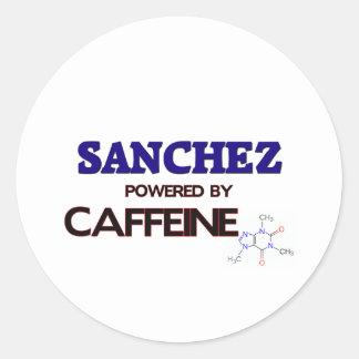 Sanchez powered by caffeine round stickers
