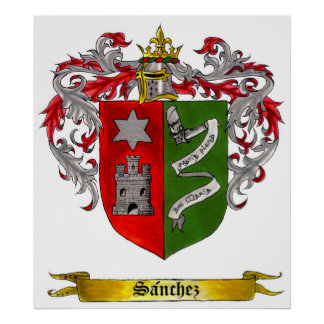 Sanchez Shield of arms (Castilian) Poster