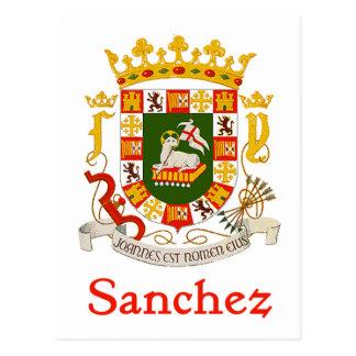 Sanchez Shield of Puerto Rico Postcard