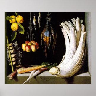 Sánchez - verduras y frutas de la carne de venado póster