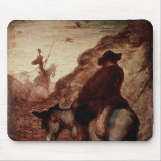 Sancho and Don Quixote, 19th century Mouse Pad
