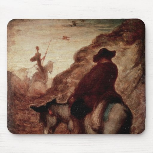 Sancho and Don Quixote, 19th century Mouse Pads