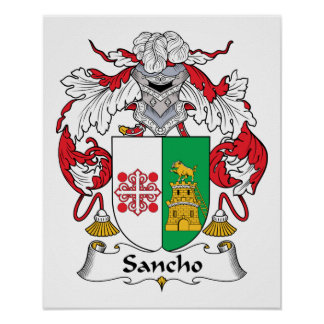 Sancho Family Crest Print