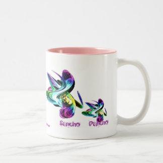 Sancho & Pancho Cool, Fract`s, Art, www.zazzle.... Two-Tone Coffee Mug