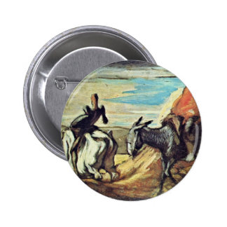 Sancho Panza And Don Quixote In The Mountains By D Pins