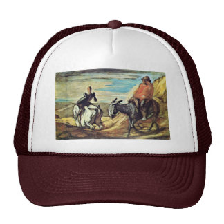 Sancho Panza And Don Quixote In The Mountains By D Trucker Hat