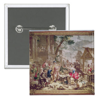 Sancho Panza and the Nut Seller 2 Inch Square Button