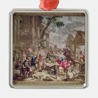Sancho Panza and the Nut Seller Christmas Ornament