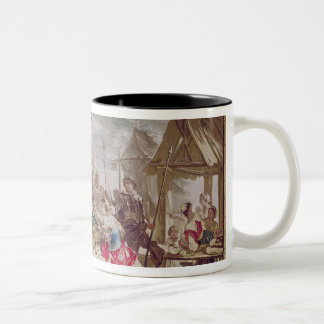 Sancho Panza and the Nut Seller Two-Tone Coffee Mug
