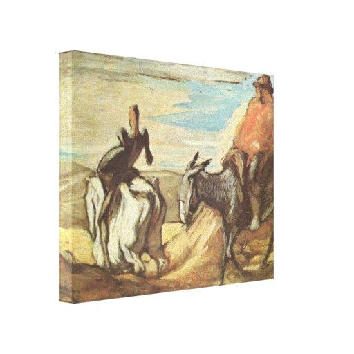 Sancho Panza, Don Quijote de Honore Daumier Lona Envuelta Para Galerias