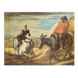 Sancho Panza, Don Quijote de Honore Daumier Postal