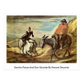 Sancho Panza y Don Quijote de Honore Daumier Postal