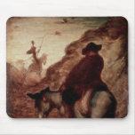Sancho y Don Quijote, siglo XIX Tapetes De Raton