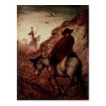 Sancho y Don Quijote, siglo XIX Tarjetas Postales