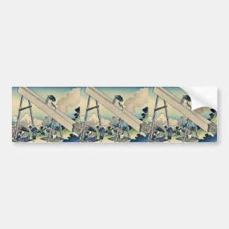 Sanchu de Totomi por Katsushika, Hokusai Ukiyoe Pegatina Para Auto