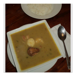 Sancocho and Rice in the Dominican Republic Poster