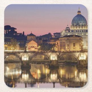Sancta Sedes per orarium Romae Square Paper Coaster