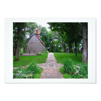 Sanctuary little church grasshopper chapel photo card