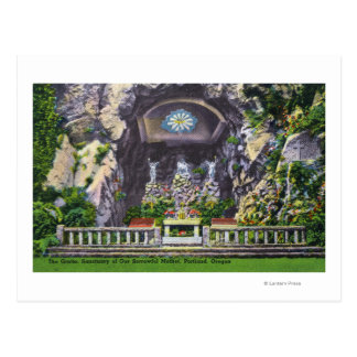 Sanctuary of Our Sorrowful Mother Grotto View Postcard