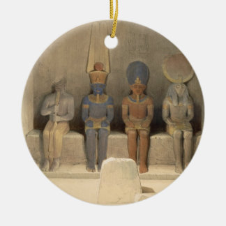 """Sanctuary of the Temple of Abu Simbel, from """"Egypt Ceramic Ornament"""