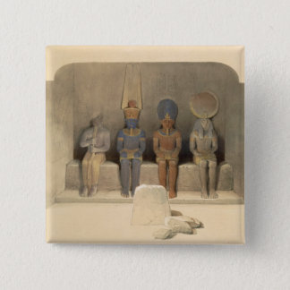 "Sanctuary of the Temple of Abu Simbel, from ""Egypt Pinback Button"