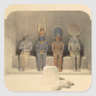"""Sanctuary of the Temple of Abu Simbel, from """"Egypt Square Sticker"""