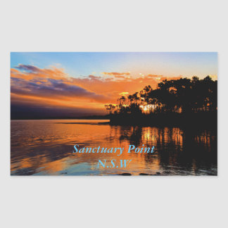 Sanctuary Point Stunner Rectangular Sticker