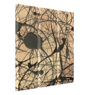 Sanctuary Pollock Inspired Abstract Canvas Print