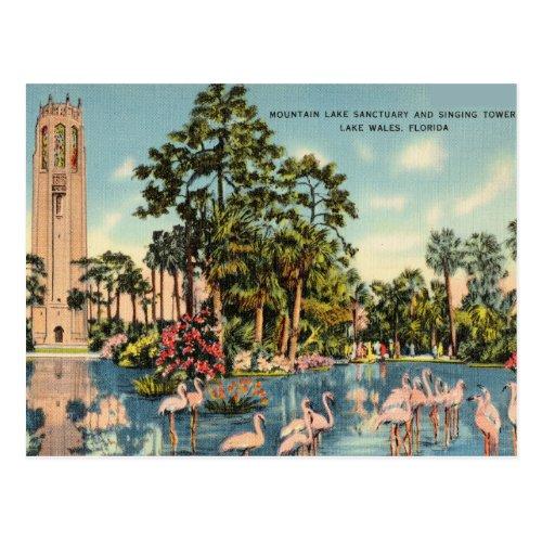 Sanctuary Singing Tower Lake Wales Florida Postcard