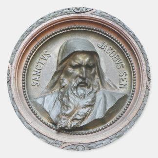 Sanctus Jacobus Sen Classic Round Sticker