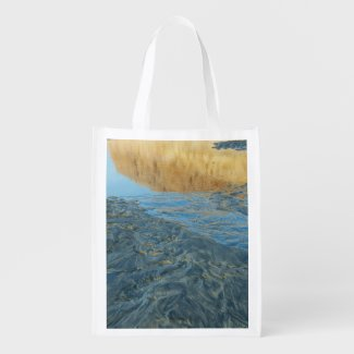 Sand Abstract Grocery Bag