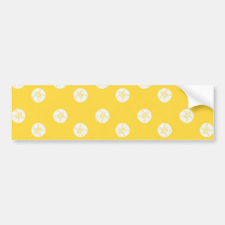 sand-and-beach_paper_sand-dollars YELLOW WHITE SAN Bumper Sticker