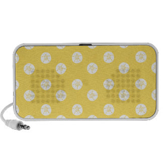 sand-and-beach_paper_sand-dollars YELLOW WHITE SAN iPhone Speakers