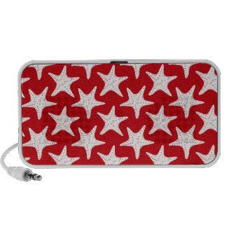 sand-and-beach_paper_starfish RED WHITE STARFISH S Mini Speakers