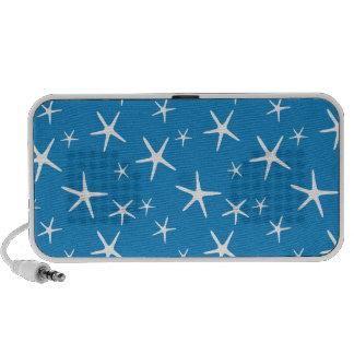 sand-and-beach_paper_starfishes BLUE WHITE STARS S Mp3 Speaker