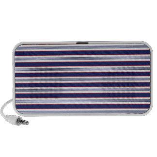 sand-and-beach_paper_stripes BLUE WHITE NAVY STRIP Mp3 Speaker