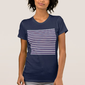 sand-and-beach_paper_stripes BLUE WHITE NAVY STRIP T-shirts